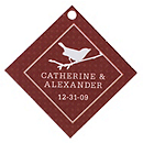 Personalized Favor Tags - Bird (Brown)