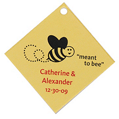 Personalized Favor Tags - Meant to Bee