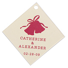 Personalized Favor Tags - Wedding Bells