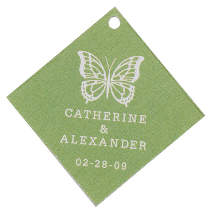 Personalized Favor Tags - Butterfly