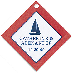 Personalized Favor Tags - Sailboat