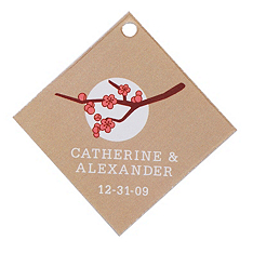 Personalized Favor Tags - Cherry Blossom