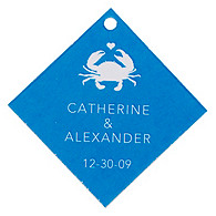 Personalized Favor Tags - Crab