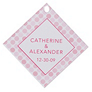 Personalized Favor Tags - Dots (Pink)