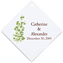 Personalized Favor Tags - Foliage (Grass)