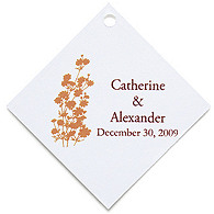 Personalized Favor Tags - Foliage (Orange)