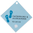 Personalized Favor Tags - Flip Flops (Blue)