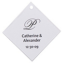 Personalized Favor Tags - Initial (Black)