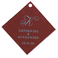 Personalized Favor Tags - Initial (Blue/Brown)