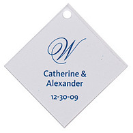Personalized Favor Tags - Initial (Blue)