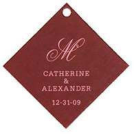 Personalized Favor Tags - Initial (Pink/Brown)