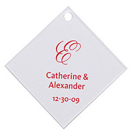 Personalized Favor Tags - Initial (Red)