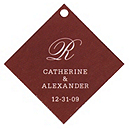 Personalized Favor Tags - Initial (White/Brown)