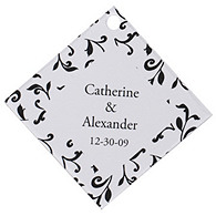 Personalized Favor Tags - Leaves (Black)