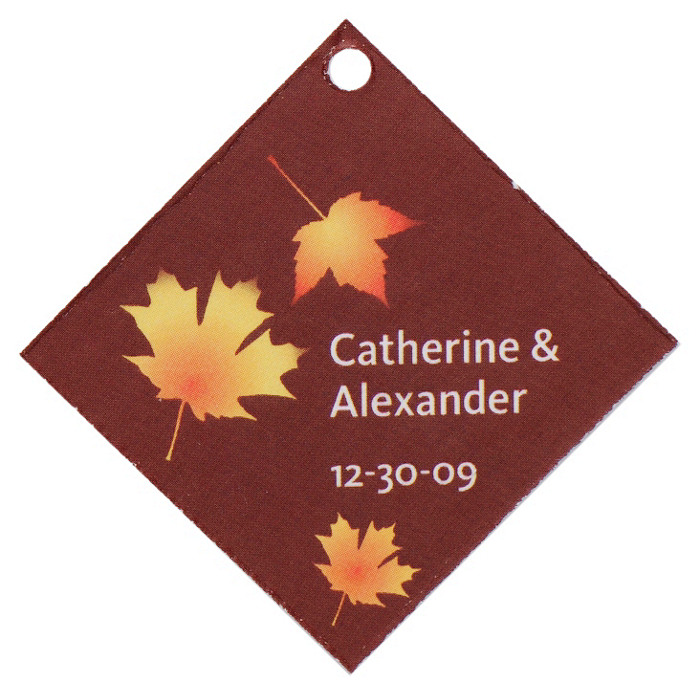 Personalized Favor Tags - Fall Leaves