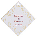 Personalized Favor Tags - Leaves (Gold)