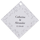 Personalized Favor Tags - Leaves (Gray)