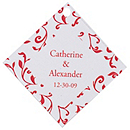 Personalized Favor Tags - Leaves (Red)