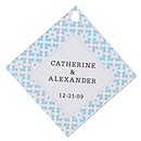 Personalized Favor Tags - Modern (Blue)