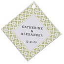 Personalized Favor Tags - Modern (Green)