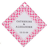 Personalized Favor Tags - Modern (Pink)