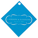 Personalized Favor Tags - Nameplate (Blue)