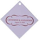 Personalized Favor Tags - Nameplate (Lavender)