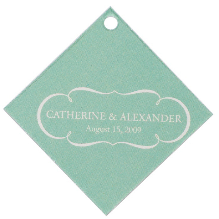 Personalized Favor Tags - Nameplate (Mint)
