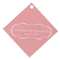 Personalized Favor Tags - Nameplate (Pink)