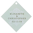 Personalized Favor Tags - Regal (Mint)