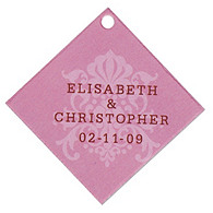 Personalized Favor Tags - Regal (Pink)