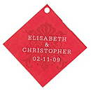 Personalized Favor Tags - Regal (Red)