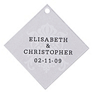 Personalized Favor Tags - Regal (Silver)
