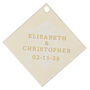 Personalized Favor Tags - Regal (Yellow)