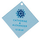 Personalized Favor Tags - Snowflakes