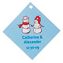 Personalized Favor Tags - Snow Love