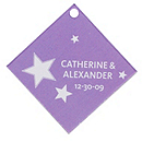 Personalized Favor Tags - Stars (Purple)