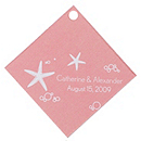 Personalized Favor Tags - Starfish (Pink)