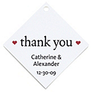 Personalized Favor Tags - Thank You