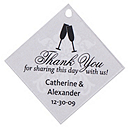 Personalized Favor Tags - Toasting Flutes (Silver)