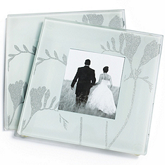 Freesia Photo Glass Coaster Favor Set