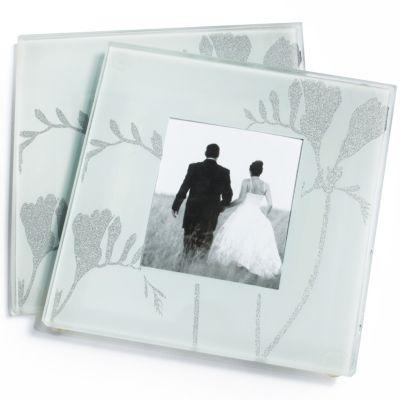 Freesia Photo Glass Coaster Favor Set