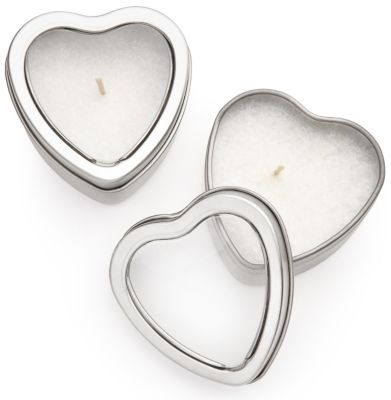 Heart Candle Favor Tin