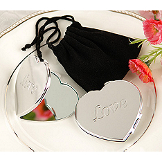 LOVE Heart Compact Mirror Favor