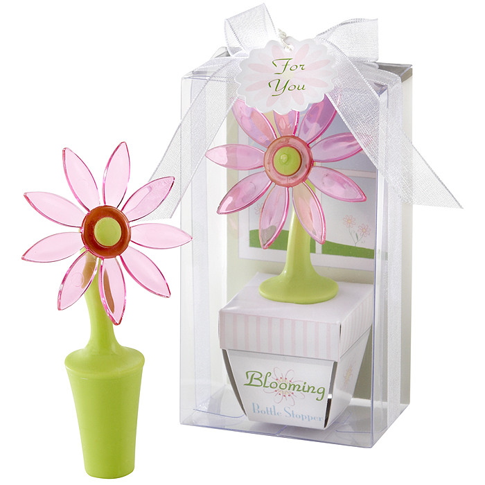 """Blooming"" Flower Bottle Stopper Favor"