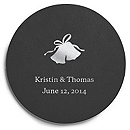 Deluxe Personalized Wedding Coasters - Bells
