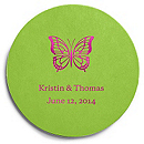 Deluxe Personalized Wedding Coasters - Butterfly