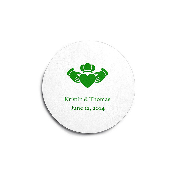 Deluxe Personalized Wedding Coasters - Claddagh