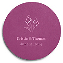 Deluxe Personalized Wedding Coasters - Calla Lily