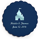 Deluxe Personalized Wedding Coasters - Castle